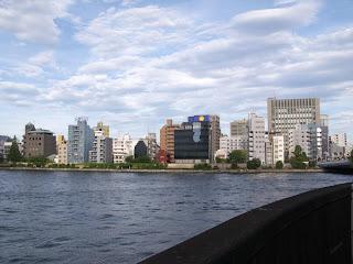 Confluence of the Sumida and Nihonbashi rivers, Tokyo.