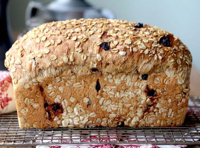 Oatmeal Blueberry Bread #bread #oatmealbread #blueberries