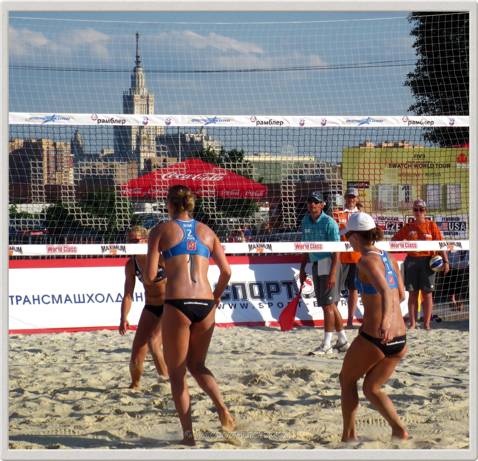 USA Beach Volleyball Players Lauren Fendrick & Brooke Hanson