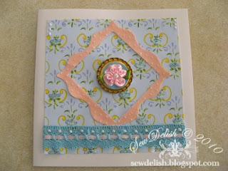 cuttlebug swiss dots make feminine lace card
