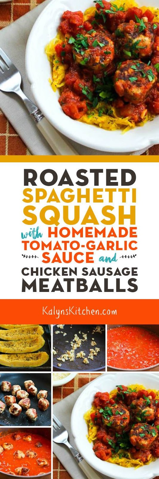 Roasted Spaghetti Squash with Homemade Tomato-Garlic Sauce and Chicken ...