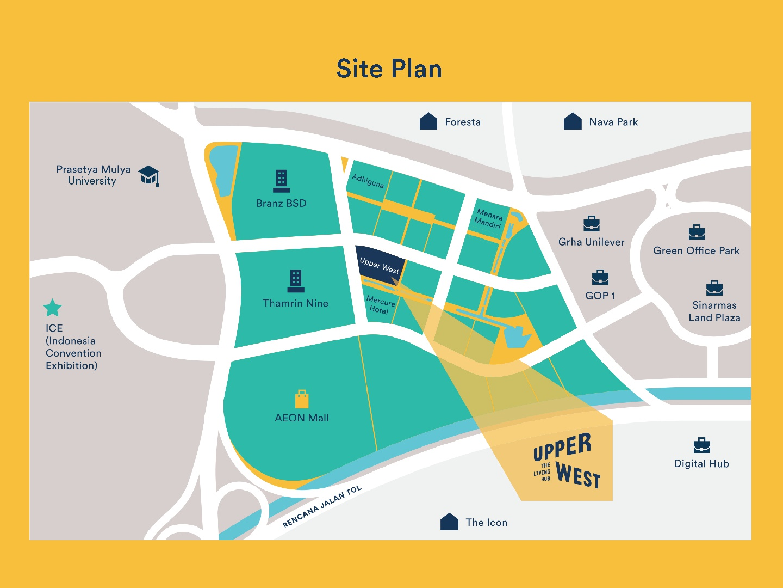 Site Plan Upper West BSD City