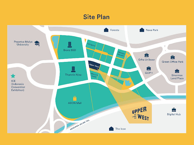 Site Plan Upper West BSD City