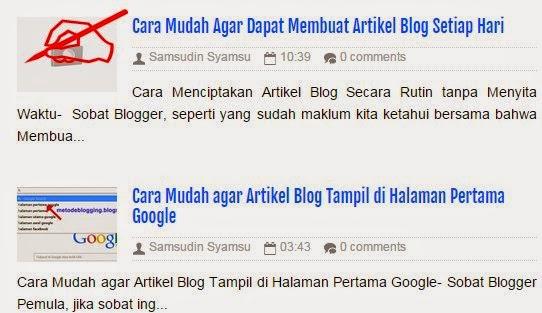 Cara Mudah Agar Dapat Membuat Artikel Blog Setiap Hari