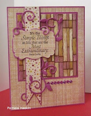 ODBD Little Things, ODBD Rustic Beauty Paper Collection, Card Designer Pamela Haskin