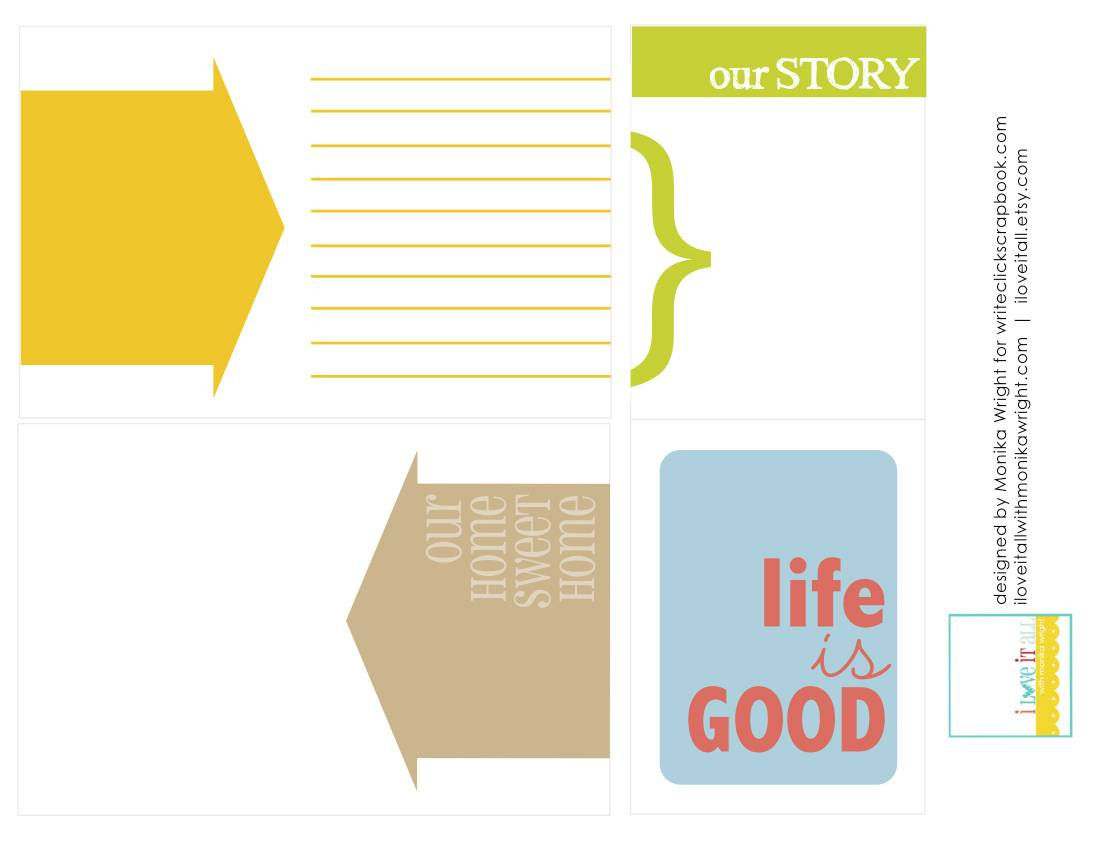 Project Life Printables | iloveitallwithmonikawright.com
