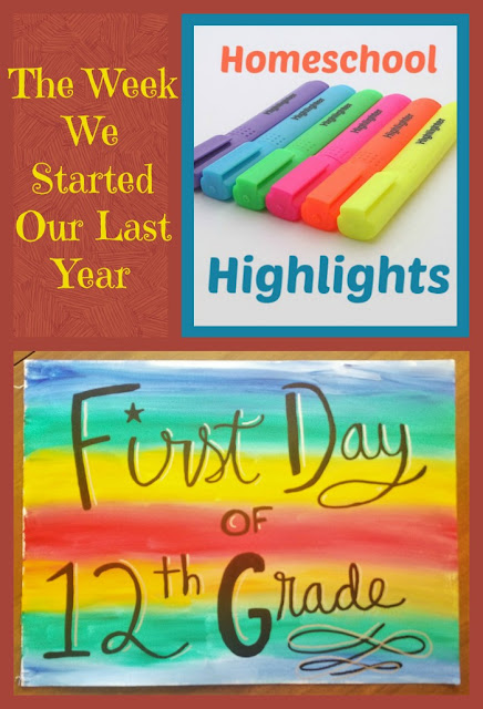 Homeschool Highlights - The Week We Started Our Last Year on Homeschool Coffee Break @ kympossibleblog.blogspot.com