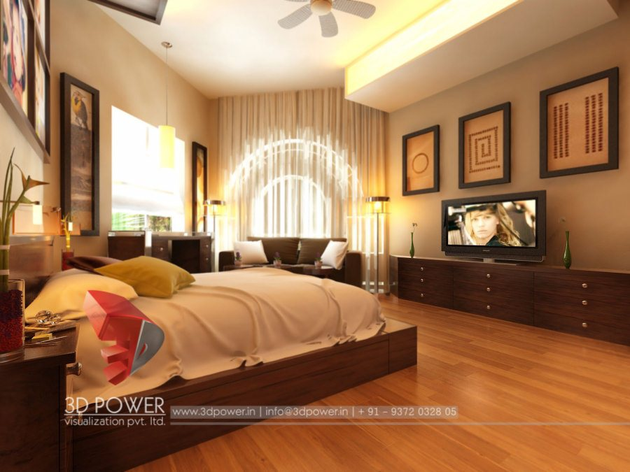 3D High Class Architectural Interior Bedroom Designs By   3D Power