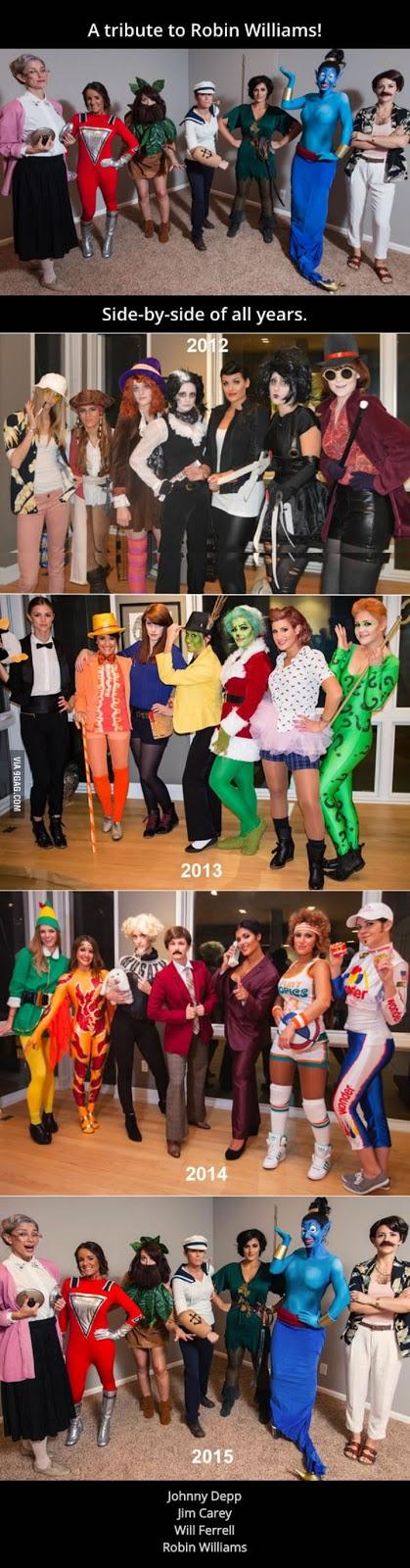 Group Costume Robin Williams, Jim Carey, Johnny Depp etc