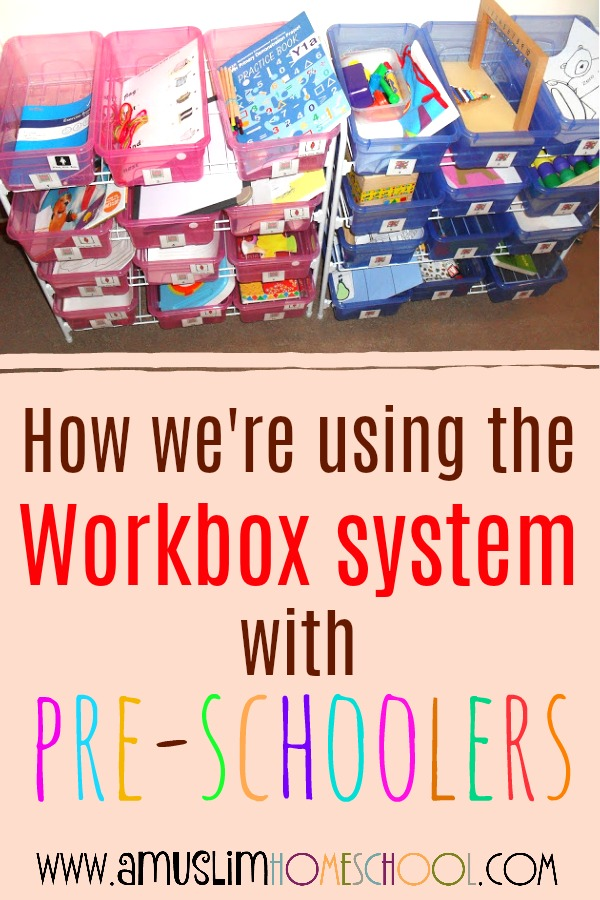 How we use workboxes with pre-schoolers in our homeschool