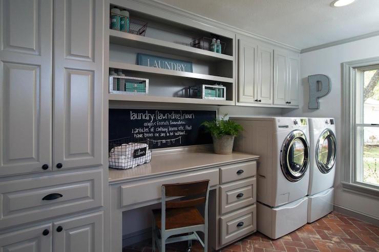 Brick Floor Laundry Room : Vintage tim laundry room mosókonyha