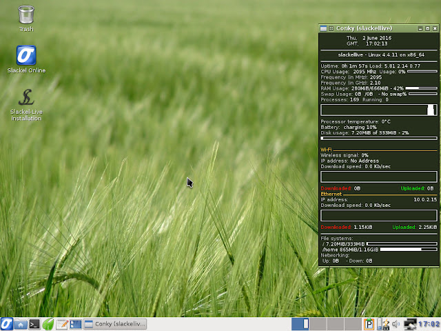 Slackel Openbox Desktop - First impression