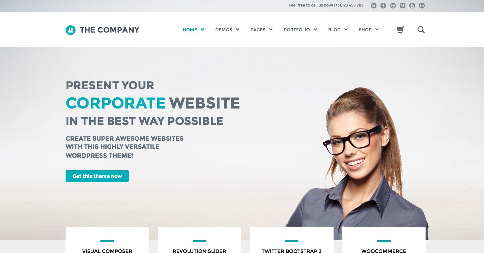 Wordpress Web Themes: The Company - Responsive Multi-Purpose