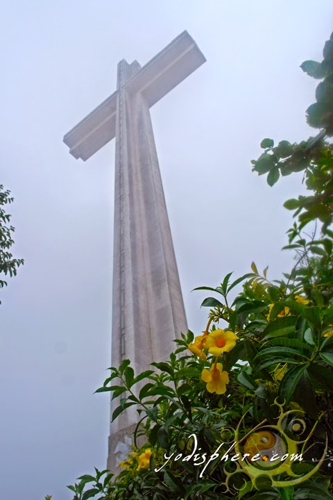 Memorial Cross Dambana ng Kagitingan Towering against the fog