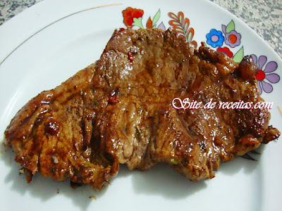 Bife frito simples
