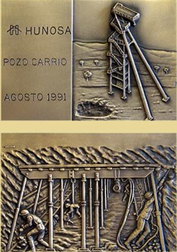 Medalla del Pozo Carrio de Hunosa de 1991