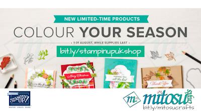 Exclusive Stampin' Up! Blended Seasons Stamp & Stitched Season Framelits Bundle from Mitosu Crafts UK