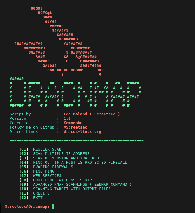 Dracnmap - Exploit Network and Gathering Information with Nmap