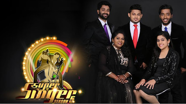 Winners of Airtel Super Singer Season 5 on Vijay TV