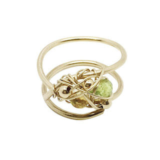 Modern Green Jewellery - Kat & Bee Peridot RIng