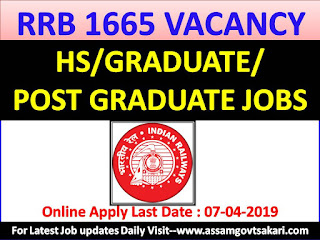 RRB  Ministerial And Isolated Categories Recruitment 2019