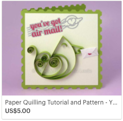 SVG Quilling Bird Card