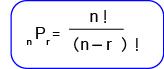 Rumus permutasi pengambilan r unsur dari n unsur berbeda