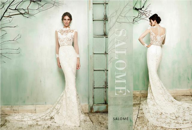 Vestido de novia corte sirena de encaje de flores by María Barragán