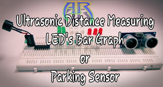 Distance Measuring LED's Bar Graph For Parking Sensor