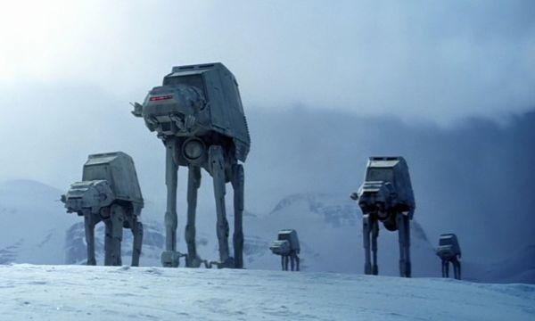Imperial AT-ATs attack Hoth in The Empire Strikes Back