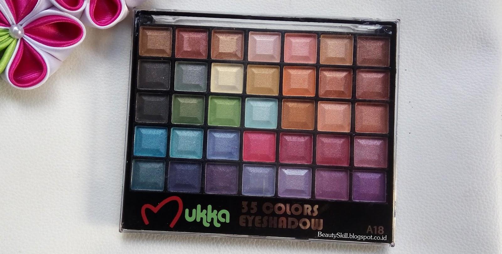 Eye Shadow Palette Mukka A 18 35 Warna Spec Dan Daftar Harga 7016 Nah Ini Adalah Kemasan Eyeshadownya Sebelum Dibuka Sudah Terlihat Yang Cantik Menanti