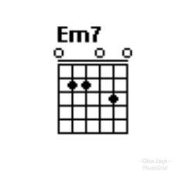 Chord gitar Em7