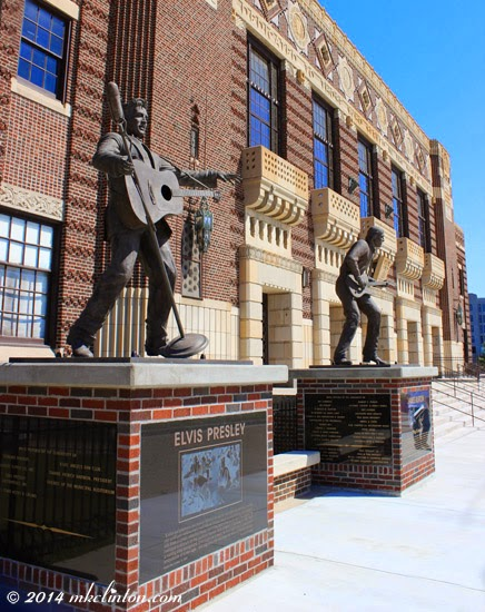 Statues of Elvis Presley and James Burton ~ Rock 'n Roll Royalty