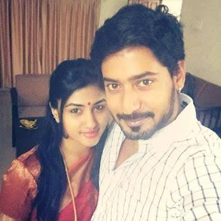 Prajwal Devaraj with wife