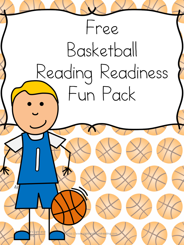 Classroom Freebies Too: Basketball Reading Readiness Worksheets
