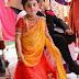 Baby in Red and Yellow Half Saree