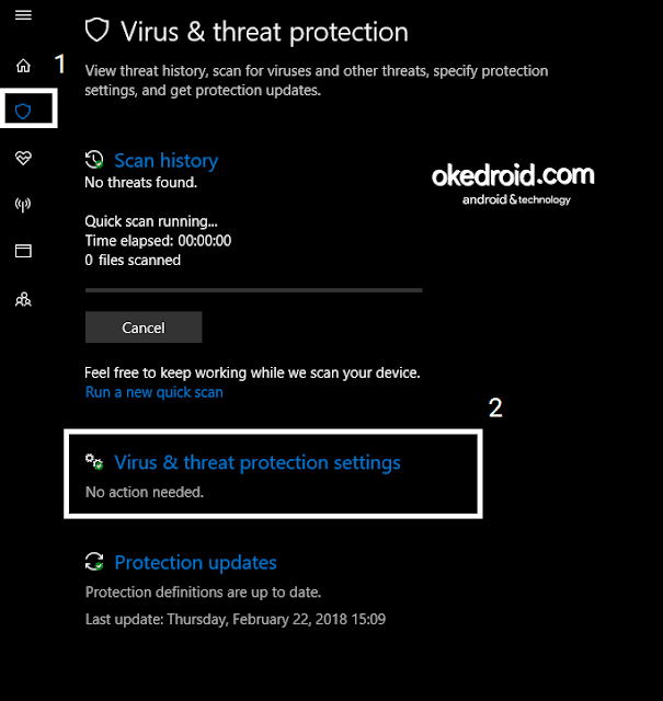 Virus & threat protection Windows 10