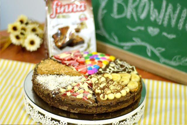 Pizza Brownie super fácil