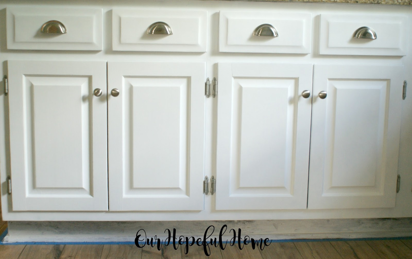 Farmhouse Bathroom Drawer Pulls Our Hopeful Home How To Install Farmhouse Kitchen Towel Bars