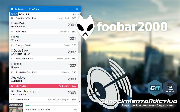 foobar2000 [Freeware] - Un reproductor musical avanzado y gratuito