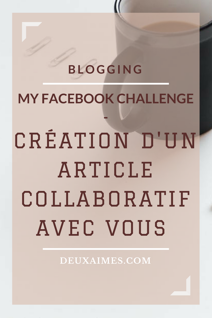 Blogging - Besoin de vous pour un article collaboratif sur le développement d'une page Facebook - Deuxaimes