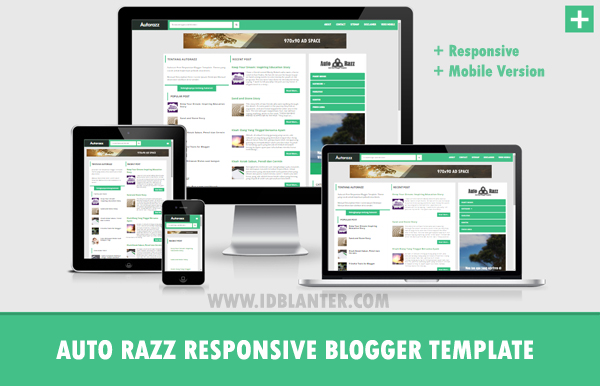 Auto Razz Responsive and Mobile Version Blogger Template