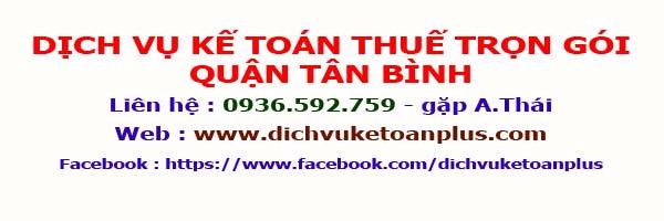 Dịch vụ kế toán thuế trọn gói Quận Tân Bình
