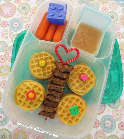 Mini Waffle sandwiches breakfst for lunch