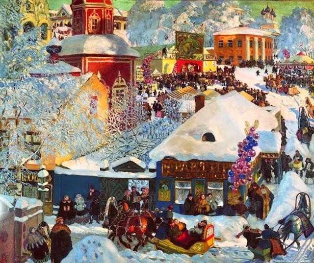 Jueves, el día de razguliai (el paseo) en el festival de Máslenitsa