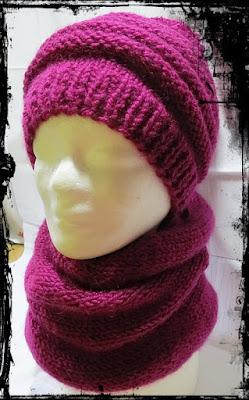 aby zimą było ciepło – czapka, komin