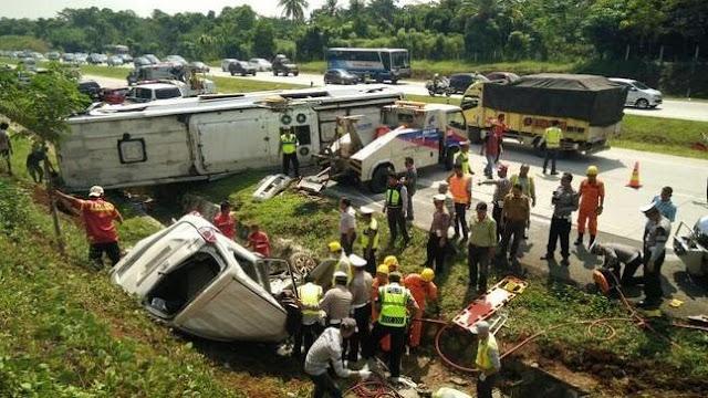 Kecelakaan di Tol Cipali pada Juli 2016