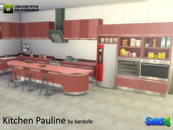 My sims 4 blog pauline kitchen set by kardofe for Kitchen set sims 4