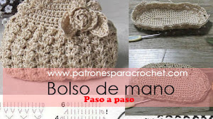 Bolso de mano pequeño a crochet / Paso a paso