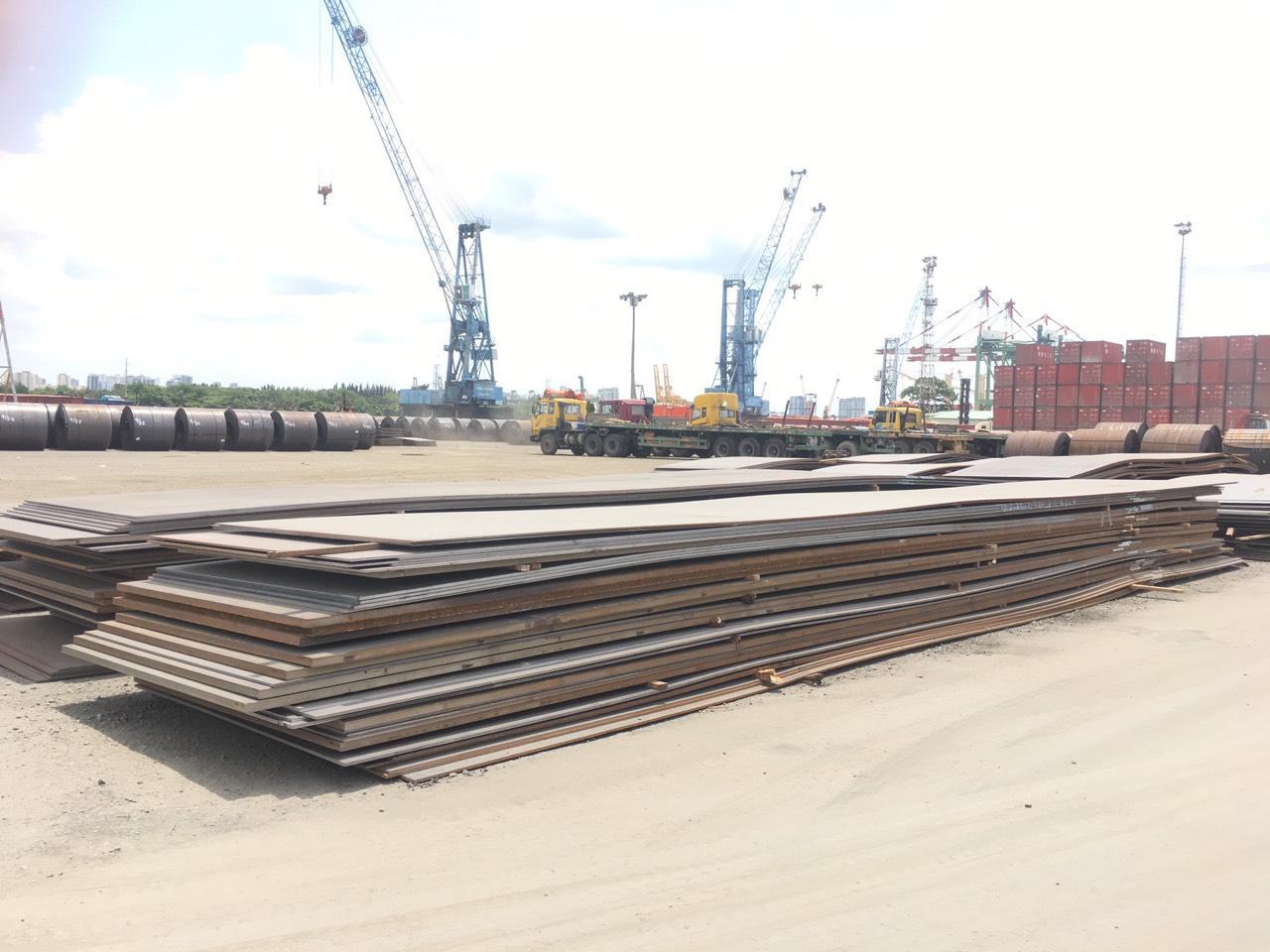 Lô thép tấm A572 Gr50 Nhật cập cảng TPHCM